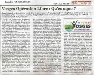 L'Echo des Vosges 8 mai 2014