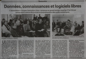 Article Vosges Matin