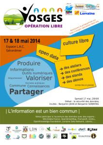 Affiche Vosges Opération Libre